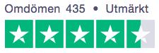 Safter.se 5 stjärnor på TrustPilot